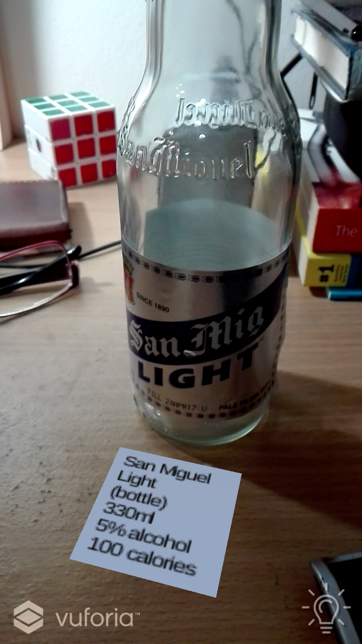 Beer Goggles Augmented Reality app screenshot