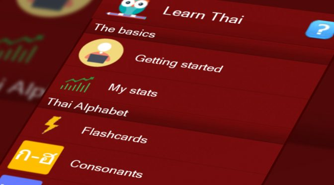 Learn Thai mobile app